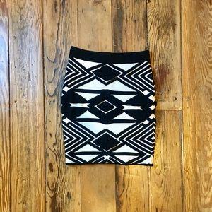 Aztec Print Skirt